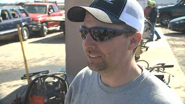 Tyson Richardet lost his home and business when a tornado touched down near Perryville Tuesday night. Credit: KMOV