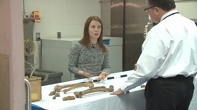 Dr. Trammell is trained to see clues in human bones that others can't see. (Credit: KMOV)