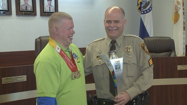 Sergeant Mark Koeller of the St. Louis County Police Department is representing the state of Missouri in Europe for the Special Olympics. (Credit: KMOV)