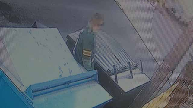 Several people attending the Mardi Gras celebration in Soulard were caught on camera urinating behind the home of a nearby resident. Credit: KMOV