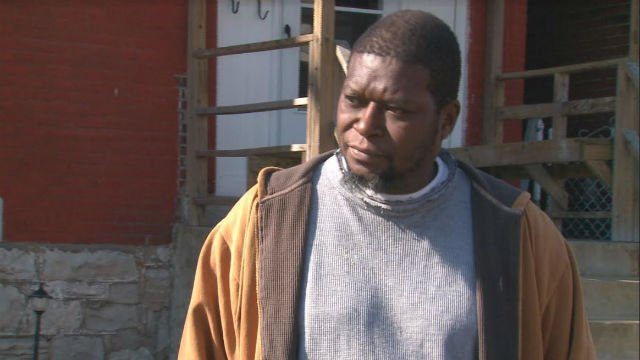 Tyrone Lampkin outside a home in the 5800 block of Wabada. (KMOV.com)