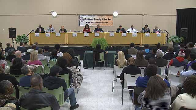 Candidates for Mayor of St. Louis faced off in a final forum at Better Family Life on Friday. Credit: KMOV
