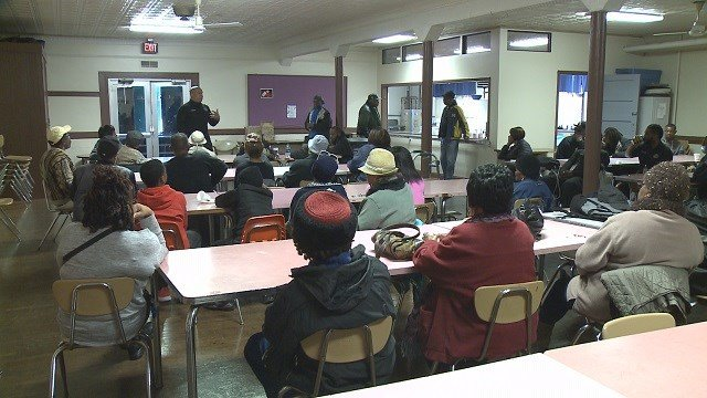Community members gather in north St. Louis (Credit: KMOV)