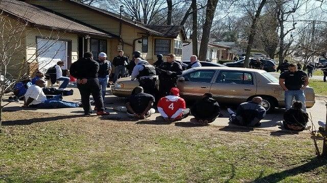 St. Ann raid (Credit: St. Ann Neighborhood Watch / Facebook)