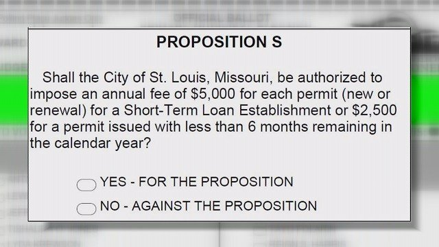 Prop S is aiming to impose a $5,000 annual permit fee on each pay day loan business in the city. (Credit: KMOV)