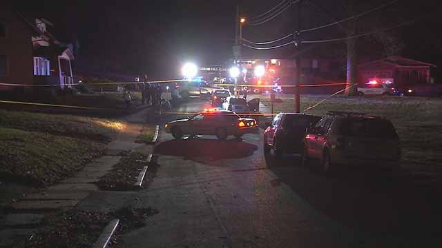 Two men in their 20s were shot and killed in Ferguson on Monday night. Credit: KMOV