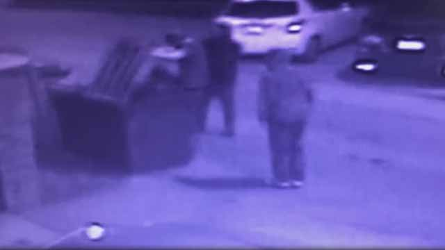 2 suspects forced a man into a dumpster so they could steal his car in south St. Louis on Feb 13. Credit: SLMPD