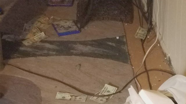 Five men were arrested after a drug raid on Shawnee Lane in northern St. Louis County. (Credit: KMOV).