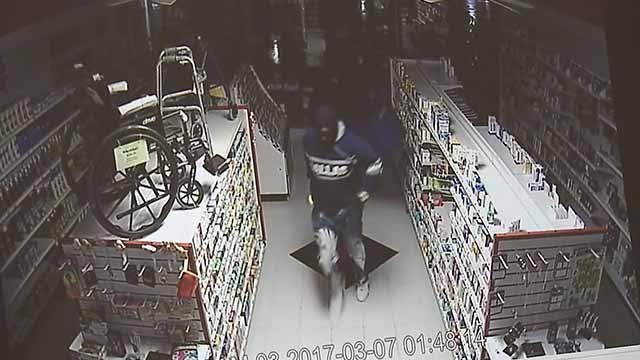Police believe thieves struck at Prescription Plus in Festus for the second time in three weeks. Credit: KMOV