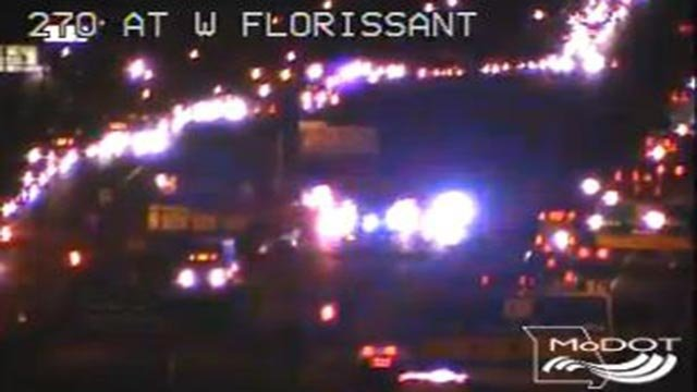 Emergency crews on WB I-270 at West Florissant (Credit: MoDOT)