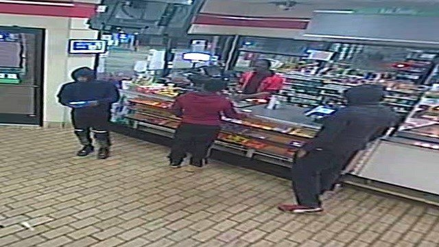 The Florissant Police Department are searching for three suspects who robbed a 7-11 early Monday morning in Florissant. (Credit: Florissant Police)