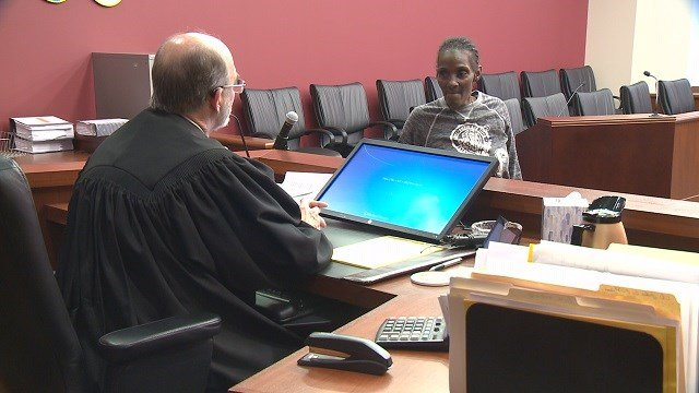 Connie King is the first graduate of the St. Louis County Veteran's Court. (Credit: KMOV)