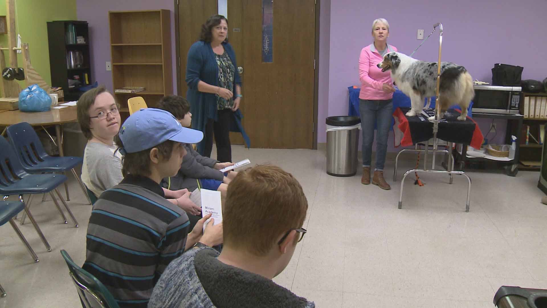 Freshman at Miriam Academy participated in the school's first ever career day recently. Credit: KMOV