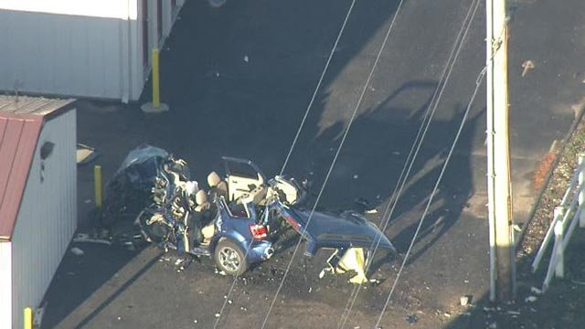 One person was killed during a crash in the 2000 block of Mascoutah Friday (Credit: KMOV)