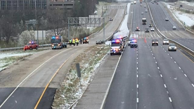 One person was killed after a vehicle crashed into a police cruiser Saturday (Credit: KMOV)