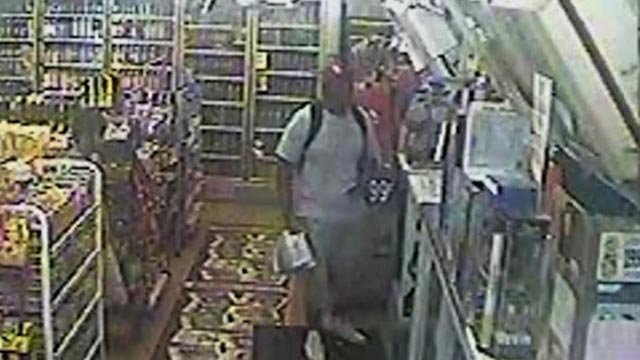 Still from surveillance video of Michael Brown inside Ferguson Market (Credit: Police)