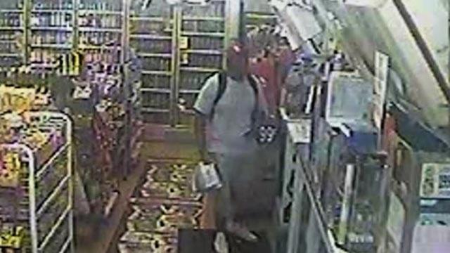 Still from surveillance video of Michael Brown inside Ferguson Market (Credit: Police)