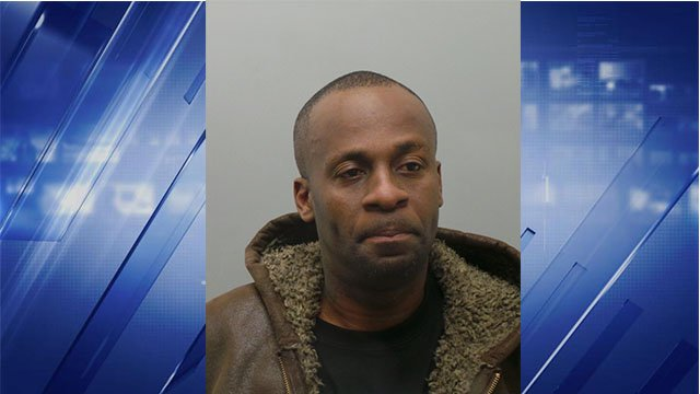 Henry L. Stokes, 44, of St. Louis, allegedly placed a napkin in the gas tank entrance of a police car and used a lighter in an attempted to set a fire. (Credit: St. Louis County Police Department)
