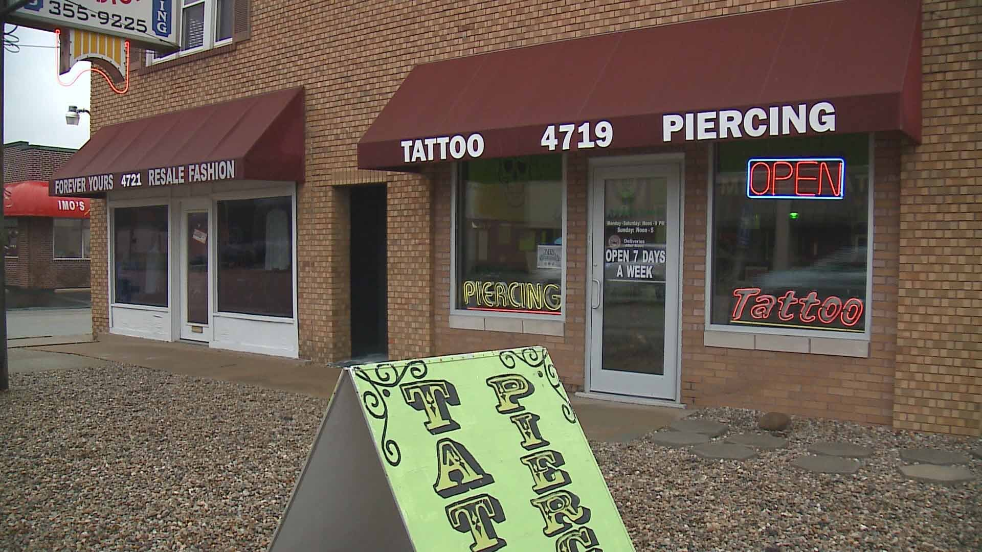 Tattoo parlors would be among the business subject to a new sales tax if a proposal in the Illinois legislature passes. Credit: KMOV
