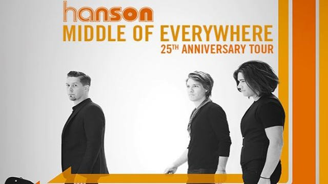 Hanson 'Middle of Everywhere' 25th anniversary tour (Credit: Hanson)