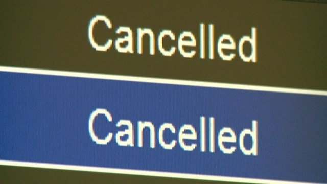 Hundreds of flights cancelled at St. Louis Lambert Airport. (Credit: KMOV)