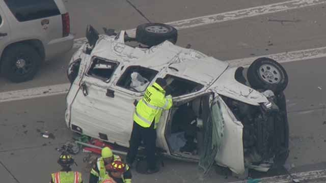 A woman died and another person was injured in an accident in on I-64 near Highway K Tuesday, Credit: KMOV