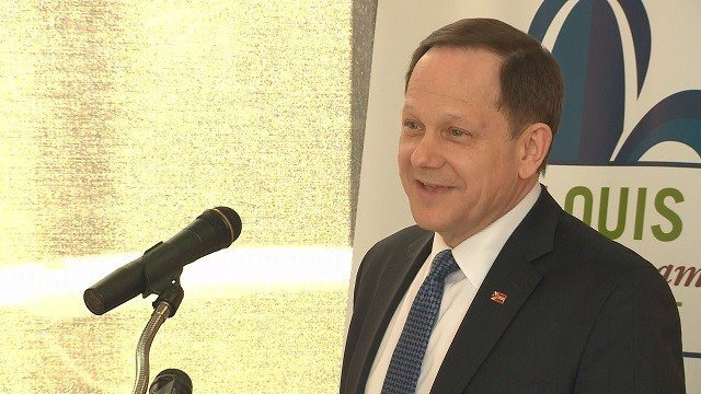 St. Louis City Mayor Francis Slay met with community leaders on Wednesday to discuss his thoughts on how St. Louis was doing. (Credit: KMOV)