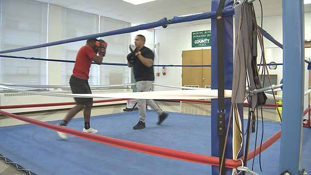 The St. Louis County Police Athletic League is using boxing and other sports to help young men. Credit: KMOV