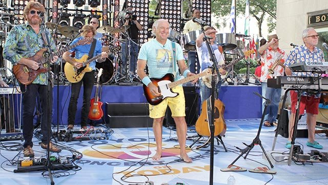 "Jimmy Buffett performs on NBC's ""Today"" show on Thursday, Aug. 15, 2013 in New York. (Photo by Greg Allen/Invision/AP)"