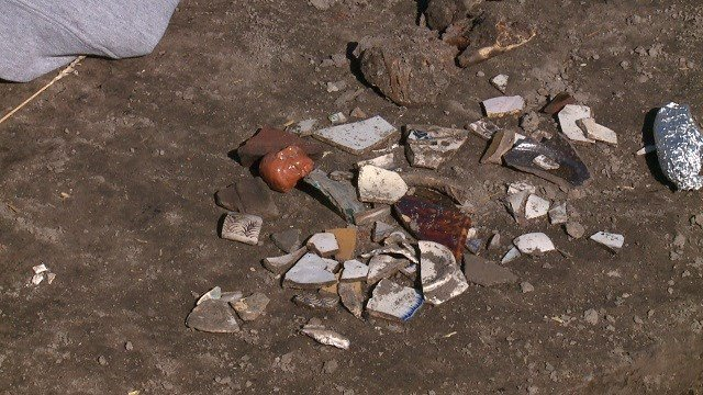 Archaeologists are digging up artifacts in an effort to learn more about the first settlers in St. Louis. (Credit: KMOV)