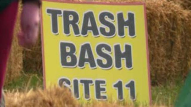 'Trash Bash' sign (Credit: KMOV)