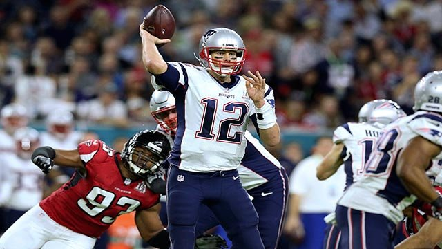 In this Feb. 5, 2017, file photo, New England Patriots quarterback Tom Brady (12) passes against the Atlanta Falcons during Super Bowl 51 in Houston. (Credit: AP Photo / Gregory Payan, File)