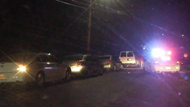 Investigators at Switzer near Hamilton after a shooting in Jennings (Credit: KMOV)