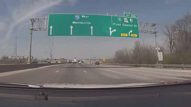 I-70 in St. Charles County. Credit: KMOV