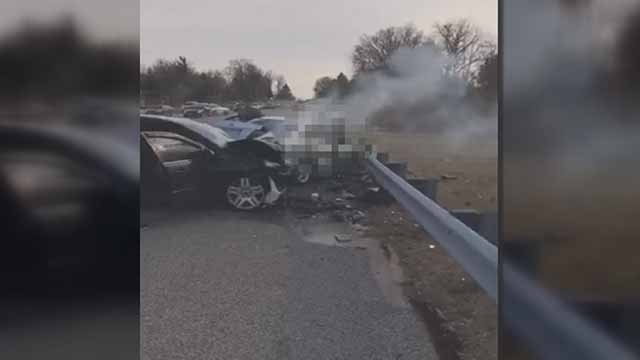 Darion Trust, 17, was killed in this head-on crash in Moline Acres Sunday. Credit: KMOV