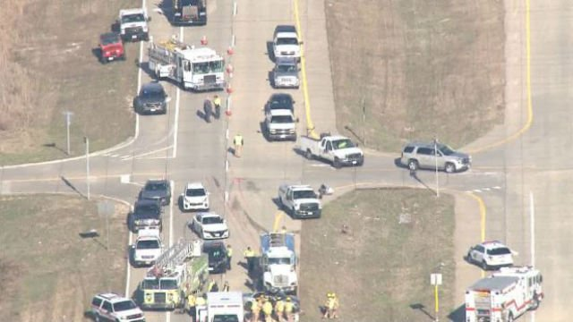 Sky Zoom 4 captures the aftermath of the accident on I-55 Wednesday morning (KMOV).