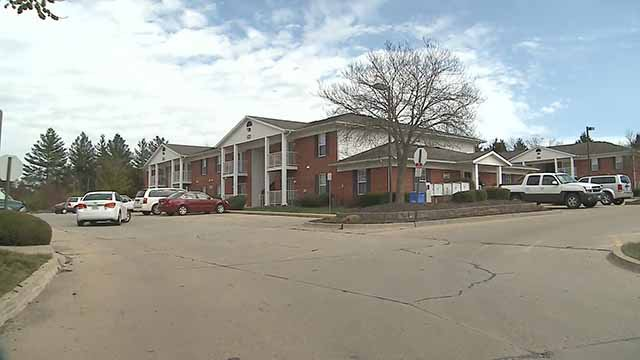 A man was stabbed when he broke into the wrong apartment at this complex in Troy, Mo. Credit: KMOV