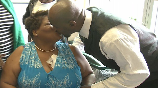 Couple weds in hospital days after wife suffers stroke. (Credit: KMOV).
