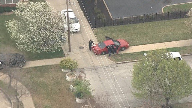 A chase came to an end at 18th and Cass Friday afternoon (KMOV)