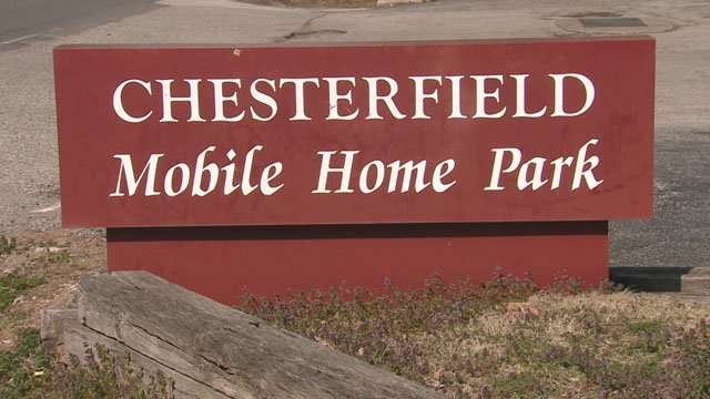 The Chesterfield Mobile Home Park is located in the heart of Chesterfield just south of Interstate 64 and west of Chesterfield Parkway West. (KMOV)