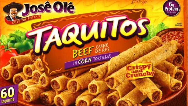 Frozen Taquitos being recalled due to possible foreign contaminants.