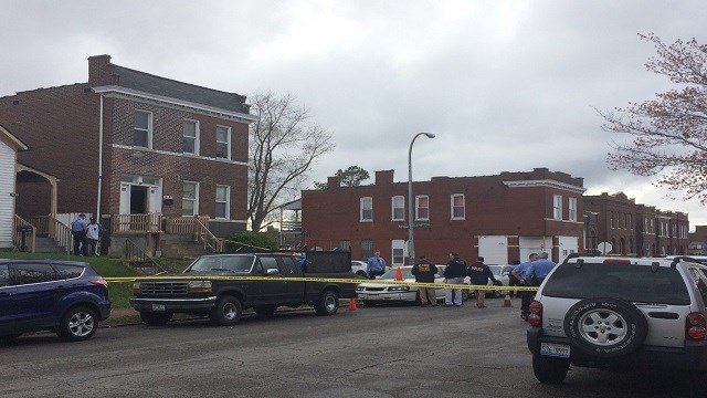 The scene of the shooting (Credit: KMOV)