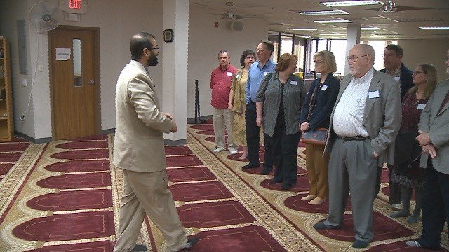 The open house at the Islamic Center in Hazelwood.  (Credit: KMOV)