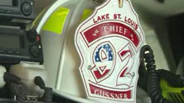 Fire Chief Clinton Gussner's hat (credit: KMOV)