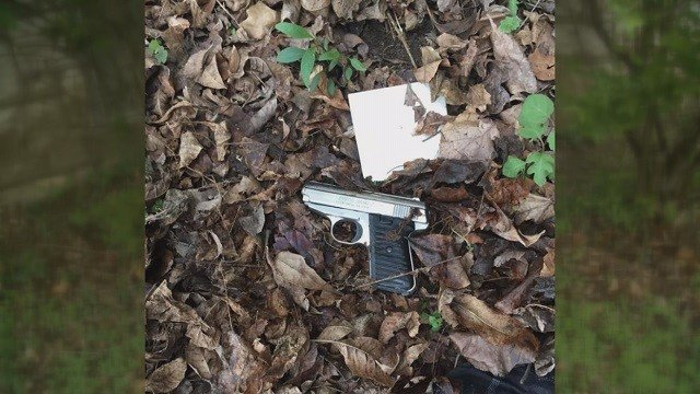 Jake Austin found a gun in his yard while doing yard work outside his south city home. (Credit: Jake Austin)