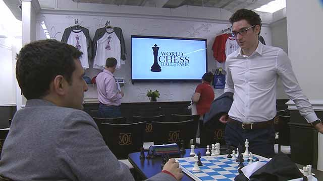 Grand master Fabiano Caruna is participating in the US Chess Championship in St. Louis. Credit: KMOV