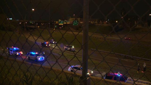 Accident reconstruction crews on southbound I-55 following an overnight fatal crash (Credit: KMOV)