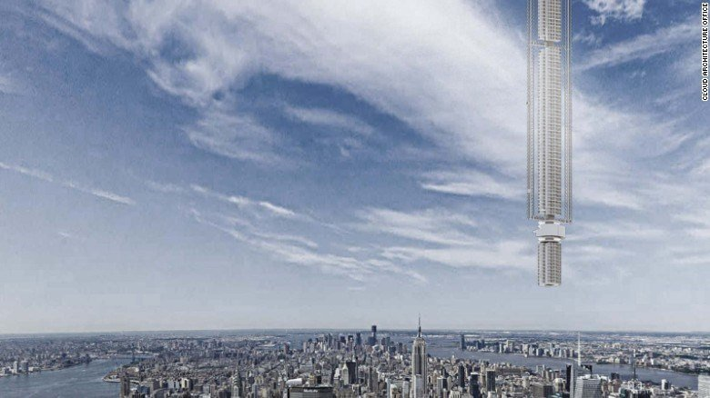 """Clouds Architecture Office has unveiled plans for a futuristic skyscraper dubbed the """"Analemma Tower."""""""