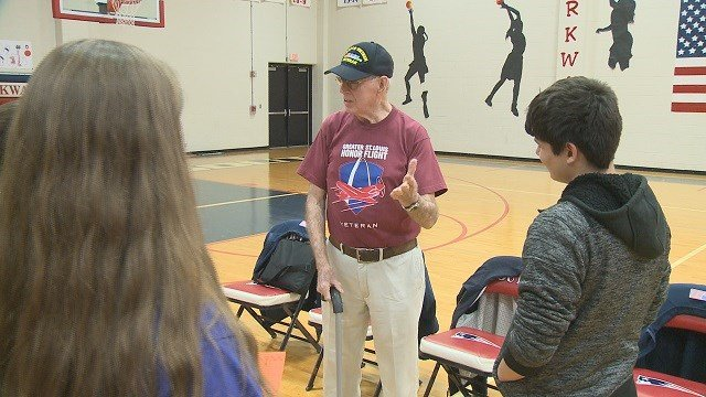 Parkway South high school students donating proceeds to a future honor flight for veterans. (Credit: KMOV)