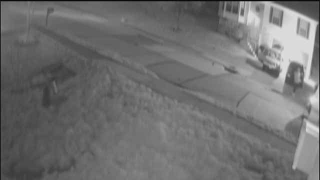 Thieves were caught on camera breaking into a car in Arnold, Mo. recently. Credit: KMOV
